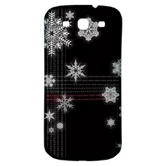 Shining Snowflakes Samsung Galaxy S3 S III Classic Hardshell Back Case