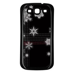 Shining Snowflakes Samsung Galaxy S3 Back Case (Black)