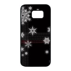 Shining Snowflakes Samsung Galaxy S7 Edge Black Seamless Case