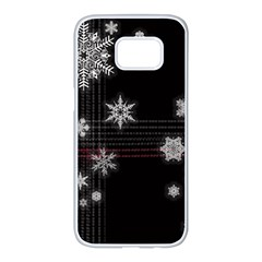 Shining Snowflakes Samsung Galaxy S7 Edge White Seamless Case