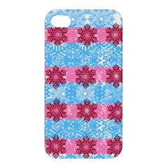 Pink Snowflakes Pattern Apple iPhone 4/4S Hardshell Case
