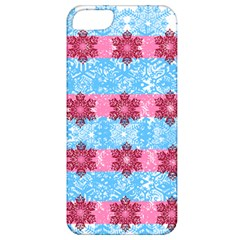 Pink Snowflakes Pattern Apple iPhone 5 Classic Hardshell Case
