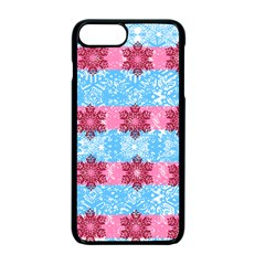Pink Snowflakes Pattern Apple iPhone 7 Plus Seamless Case (Black)