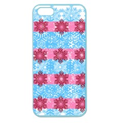 Pink Snowflakes Pattern Apple Seamless iPhone 5 Case (Color)