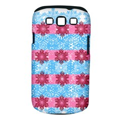 Pink Snowflakes Pattern Samsung Galaxy S III Classic Hardshell Case (PC+Silicone)