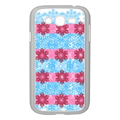 Pink Snowflakes Pattern Samsung Galaxy Grand DUOS I9082 Case (White)