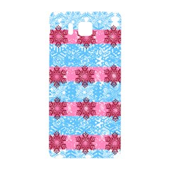 Pink Snowflakes Pattern Samsung Galaxy Alpha Hardshell Back Case