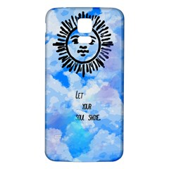 Let Your Sun Shine  Samsung Galaxy S5 Back Case (White)