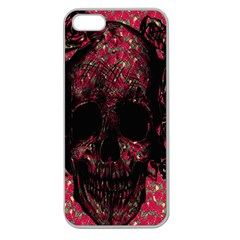 Vintage Pink Flowered Skull Pattern  Apple Seamless iPhone 5 Case (Clear)