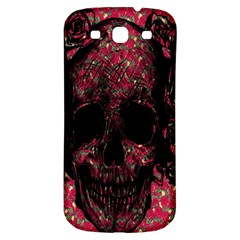 Vintage Pink Flowered Skull Pattern  Samsung Galaxy S3 S III Classic Hardshell Back Case