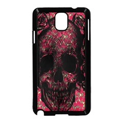 Vintage Pink Flowered Skull Pattern  Samsung Galaxy Note 3 Neo Hardshell Case (Black)
