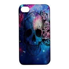 Colorful Space Skull Pattern Apple iPhone 4/4S Hardshell Case with Stand