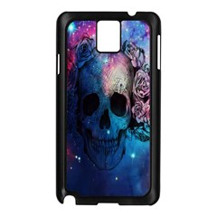 Colorful Space Skull Pattern Samsung Galaxy Note 3 N9005 Case (black)