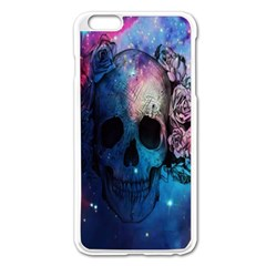 Colorful Space Skull Pattern Apple iPhone 6 Plus/6S Plus Enamel White Case