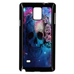 Colorful Space Skull Pattern Samsung Galaxy Note 4 Case (Black)