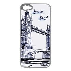 Lovely London Baby  Apple iPhone 5 Case (Silver)