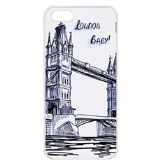 Lovely London Baby  Apple iPhone 5 Seamless Case (White)