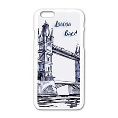 Lovely London Baby  Apple iPhone 6/6S White Enamel Case