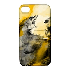 Wild Wolf Apple iPhone 4/4S Hardshell Case with Stand