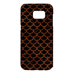Scales1 Black Marble & Brown Marble Samsung Galaxy S7 Edge Hardshell Case