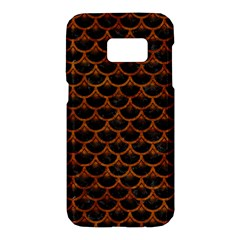 Scales3 Black Marble & Brown Marble Samsung Galaxy S7 Hardshell Case