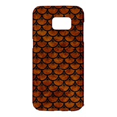 Scales3 Black Marble & Brown Marble (r) Samsung Galaxy S7 Edge Hardshell Case