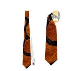 Skin1 Black Marble & Brown Marble Necktie (two Side)