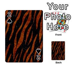 Skin3 Black Marble & Brown Marble Playing Cards 54 Designs