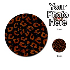 Skin5 Black Marble & Brown Marble (r) Multi Purpose Cards (round)