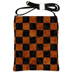 Square1 Black Marble & Brown Marble Shoulder Sling Bag