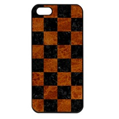 Square1 Black Marble & Brown Marble Apple Iphone 5 Seamless Case (black)