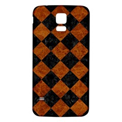 Square2 Black Marble & Brown Marble Samsung Galaxy S5 Back Case (white)