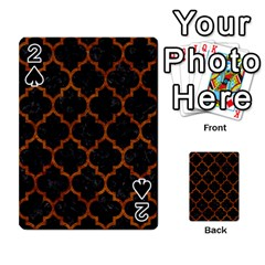 Tile1 Black Marble & Brown Marble Playing Cards 54 Designs