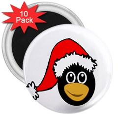 Christmas Animal Clip Art 3  Magnets (10 Pack)
