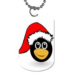 Christmas Animal Clip Art Dog Tag (two Sides)