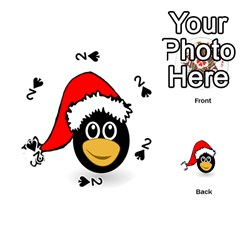 Christmas Animal Clip Art Playing Cards 54 (Round)