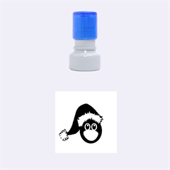 Christmas Animal Clip Art Rubber Round Stamps (small)