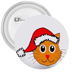 Cat Christmas Cartoon Clip Art 3  Buttons