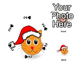 Cat Christmas Cartoon Clip Art Playing Cards 54 (round)