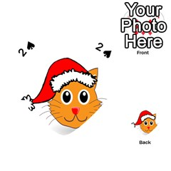 Cat Christmas Cartoon Clip Art Playing Cards 54 (heart)