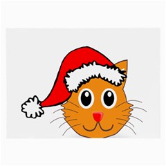 Cat Christmas Cartoon Clip Art Large Glasses Cloth (2 Side)