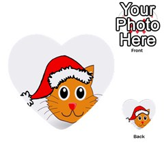 Cat Christmas Cartoon Clip Art Multi-purpose Cards (Heart)