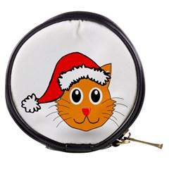 Cat Christmas Cartoon Clip Art Mini Makeup Bags