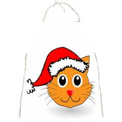 Cat Christmas Cartoon Clip Art Full Print Aprons