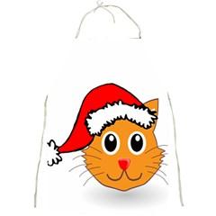 Cat Christmas Cartoon Clip Art Full Print Aprons