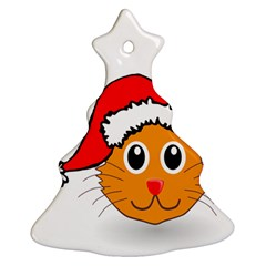 Cat Christmas Cartoon Clip Art Christmas Tree Ornament (2 Sides)