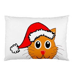 Cat Christmas Cartoon Clip Art Pillow Case (two Sides)