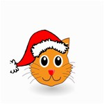 Cat Christmas Cartoon Clip Art Small Garden Flag (Two Sides) Back