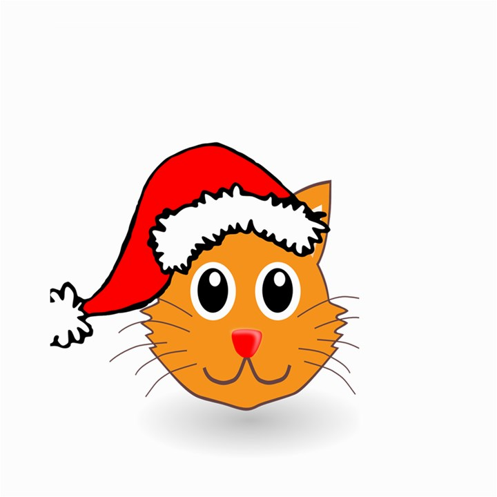 Cat Christmas Cartoon Clip Art Large Garden Flag (Two Sides)