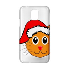 Cat Christmas Cartoon Clip Art Samsung Galaxy S5 Hardshell Case